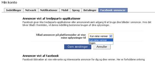 Facebook-annoncer